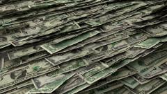 Money Piles Stacks of Dollars Financial US Currency Tax Seamless Loop Stock Footage