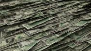 Stock Video Footage of Money Piles Stacks of Dollars Financial US Currency Tax Seamless Loop 2