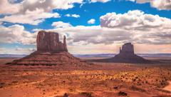 Monument Valley Timelapse Clouds Native Park, Arizona Stock Footage