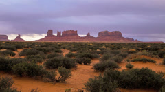 Monument Valley Timelapse Rain Storm Clouds, Arizona. Stock Footage