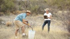 Earth Science Digging Location Instruction Stock Footage