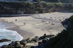 People hanging out at Bronte beach Stock Photos