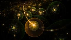 Golden holiday lights on black, animation, seamless loop Stock Footage