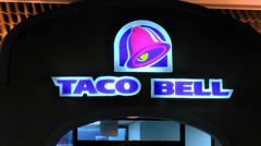 Taco Bell entrance zoom out Stock Footage