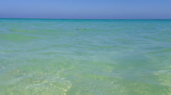 Turquose sea surface background Stock Footage