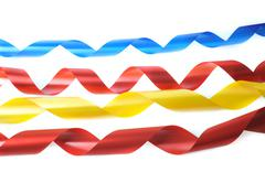 color ribbons - stock photo