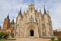 gaudi palace in astorga, leon, spain - stock photo