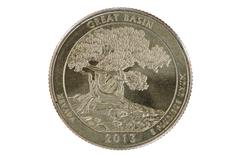great basin quarter coin - stock photo