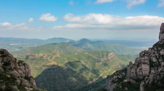 View from Montserrat HD Stock Footage