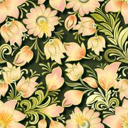 Stock Illustration of abstract vintage seamless floral ornament