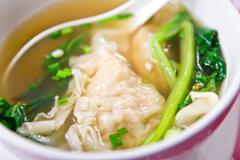 Chinese wonton dumpling soup Stock Photos