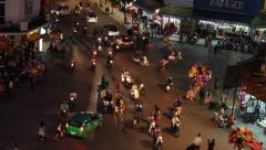 Night traffic at the 36 street in Hanoi Stock Footage