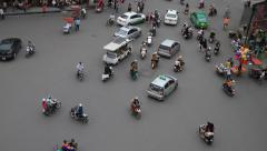City traffic at the 36 street in Hanoi Stock Footage