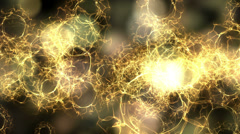 4K Abstract fantasy motion background, shining lights and particles Stock Footage