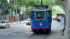 Old Tram HD Stock Footage