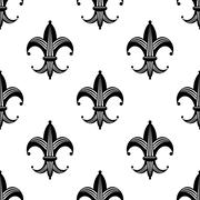Seamless stylized fleur de lys pattern Stock Illustration