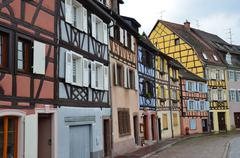 Stock Photo of half timbered houses of colmar, alsace, france