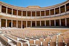 Palace charles v, alhambra, granada, andalusia, spain Stock Photos