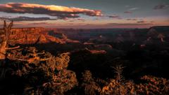Sunset timelapse over incredible Grand Canyon Panoramic vista Stock Footage