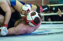 volga federal district championship in mixed martial arts... ... - stock photo