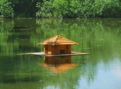 House for waterfowl Stock Photos