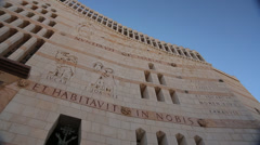Church of the Annunciation in Nazareth Stock Footage