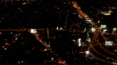 Beautiful night panorama of Bangkok Stock Footage