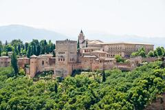 alhambra in granada, andalucia, spain - stock photo