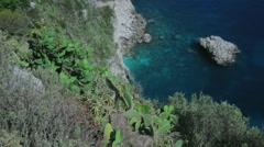 Azure Paradise Bay Capri Italy - 25FPS PAL - stock footage