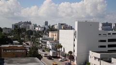 Aerial landscape view Miami florida us Stock Footage