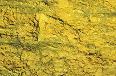 Yellow rock texture Stock Photos