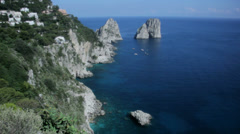 The Southern Coastline of Capri Italy - 25FPS PAL Stock Footage