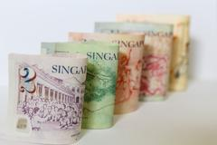 Singapore  bank note Stock Photos