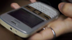 Touch-tone phone in the hands of a girl Stock Footage