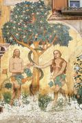 Stock Photo of ardez (engadine): adam and eve