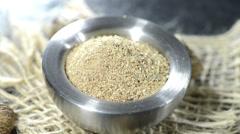 grated nutmeg (loopable video) - stock footage