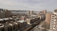 Elevated Subway Train in Harlem New York City NYC USA 4K Stock Footage