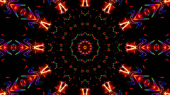 Kaleidoscope color visuals xtc Stock Footage