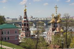 Cathedral church of the mostholy mother of god in nizhny novgorod Stock Photos
