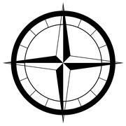 the compass rose - stock illustration
