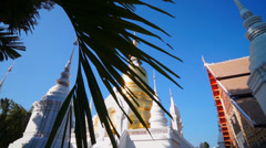 Wat Suan Dok Pagoda slide foreground Stock Footage