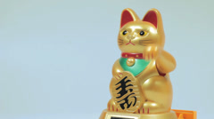 Lucky cat doll Stock Footage