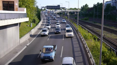 cars on highway (time lapse) - stock footage