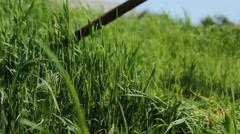 Farm Mowing Scythe Stock Footage
