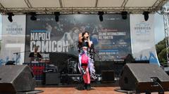Comicon Naples 2014 Stock Footage