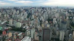 Sao Paulo Brazil Aerial Stock Footage