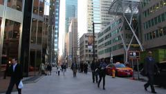 Bay Street Toronto People Stock Footage