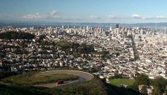 View of San Francisco from Twin Peaks. California, USA. Stock Footage