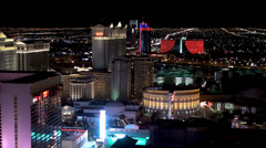 High Roller view of the Las Vegas Strip at night. Nevada, USA. Stock Footage