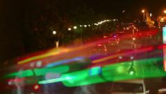 Vehicles moving up and down the street at night in a dense traffic. Stock Footage